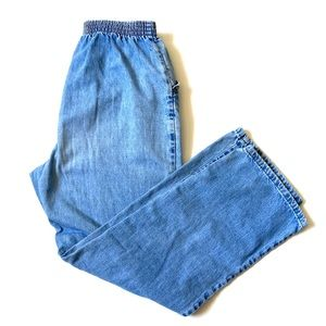 Vintage Chic high waisted denim pants / joggers 10